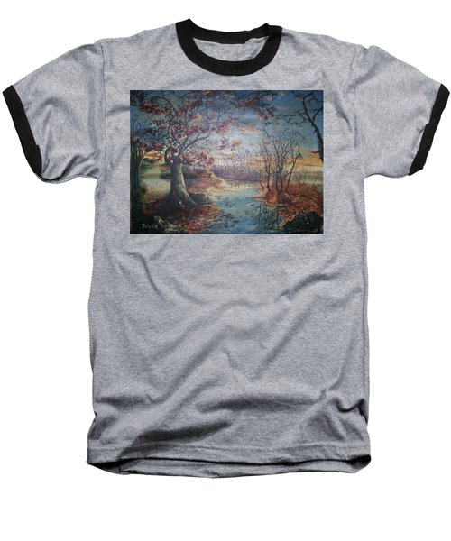 Baseball T-Shirt featuring the painting Late Fall by Peter Suhocke