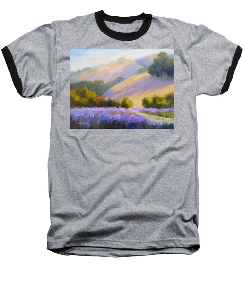 Late June Hills And Lavender Baseball T-Shirt