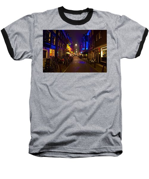 Baseball T-Shirt featuring the photograph Late Night Neon  by Jonah  Anderson