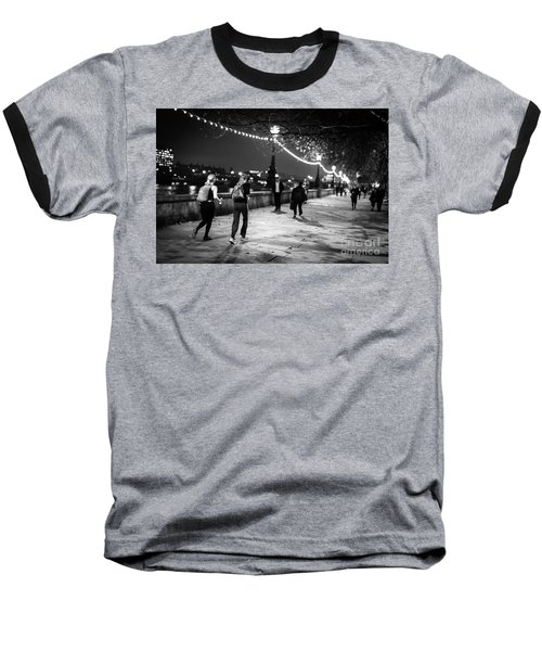 Late Night Run Baseball T-Shirt
