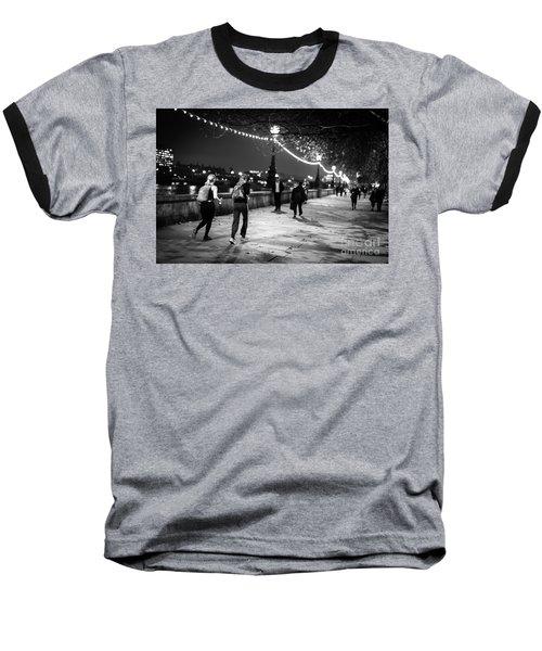 Late Night Run Baseball T-Shirt by Matt Malloy