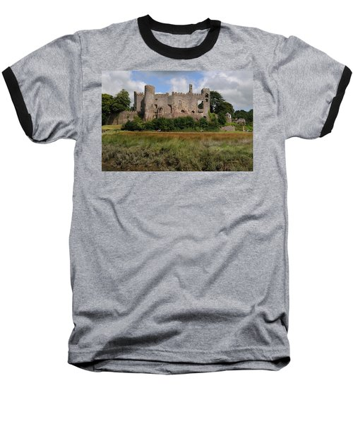 Laugharne Castle Baseball T-Shirt