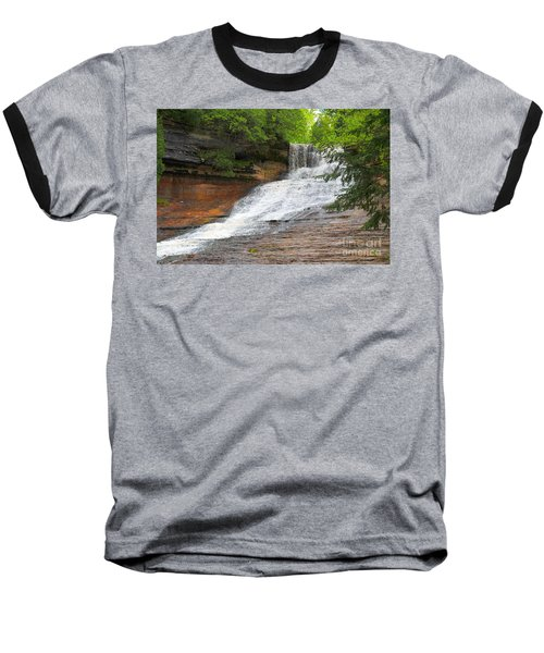 Baseball T-Shirt featuring the photograph Laughing Whitefish Waterfall by Terri Gostola