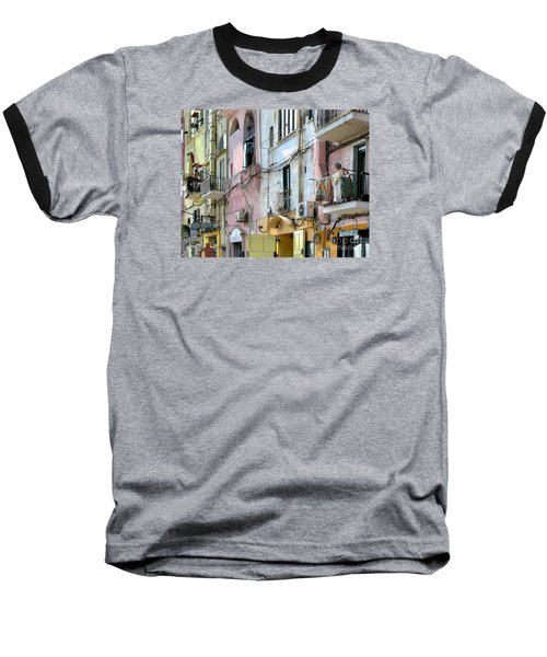 Laundry Day In Procida Baseball T-Shirt by Jennie Breeze