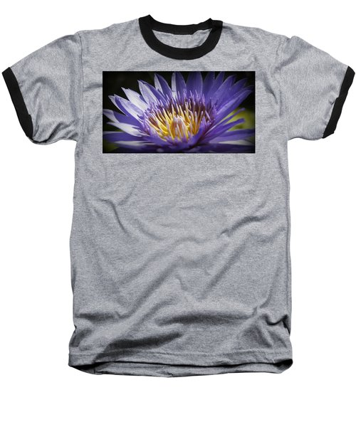 Baseball T-Shirt featuring the photograph Lavendar Lily by Laurie Perry