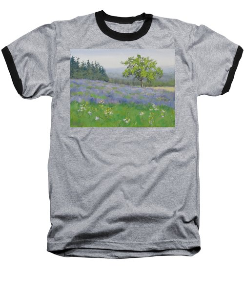 Baseball T-Shirt featuring the painting Lavender Afternoon by Karen Ilari