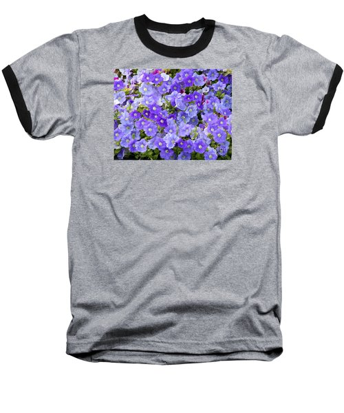 Baseball T-Shirt featuring the photograph Lavender And Purple by Mariarosa Rockefeller