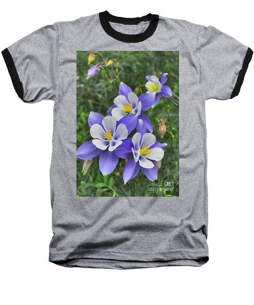 Baseball T-Shirt featuring the digital art Lavender And White Star Flowers by Mae Wertz