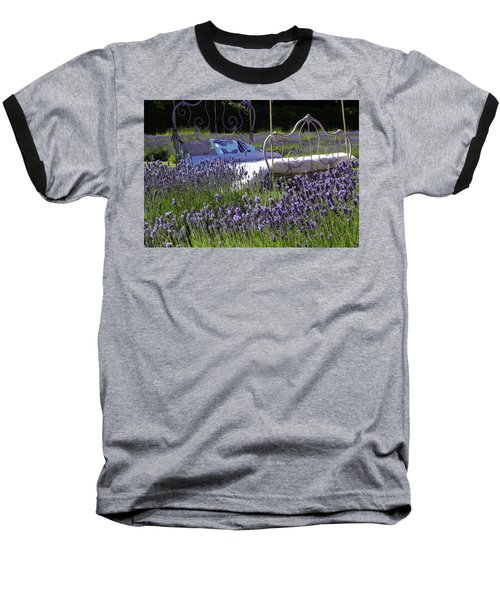 Baseball T-Shirt featuring the photograph Lavender Dreams by Cheryl Hoyle