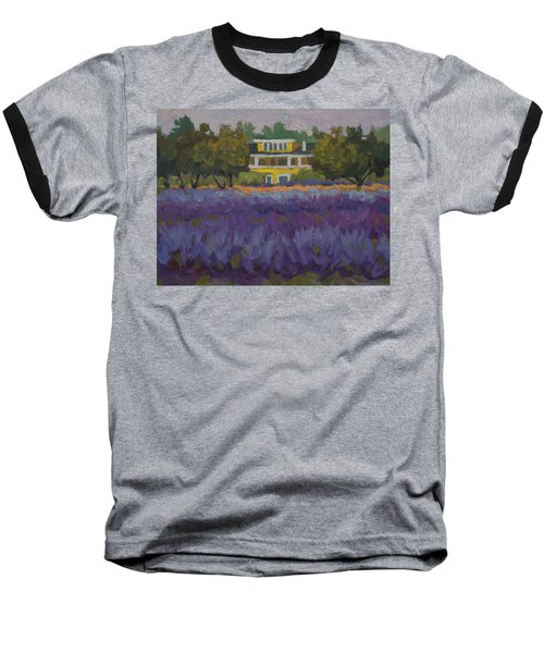 Lavender Farm On Vashon Island Baseball T-Shirt by Diane McClary