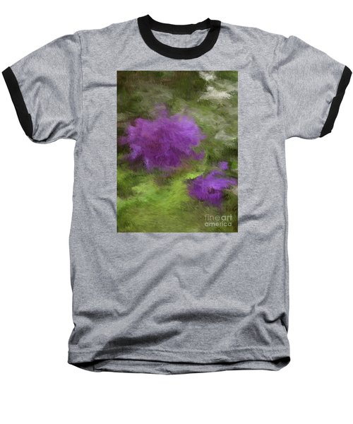 Baseball T-Shirt featuring the digital art Monet Meadow by The Art of Alice Terrill