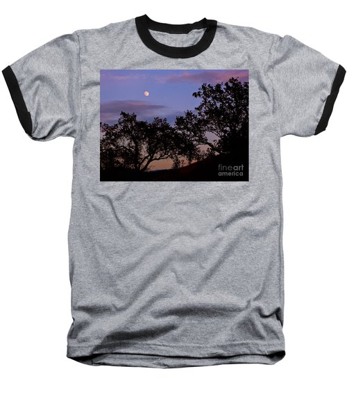 Lavender Moon Twilight Baseball T-Shirt by Gem S Visionary