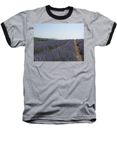 Baseball T-Shirt featuring the photograph Lavender Sky by Pema Hou