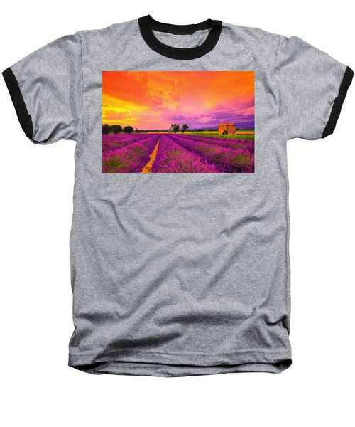 Lavender Sunset Baseball T-Shirt