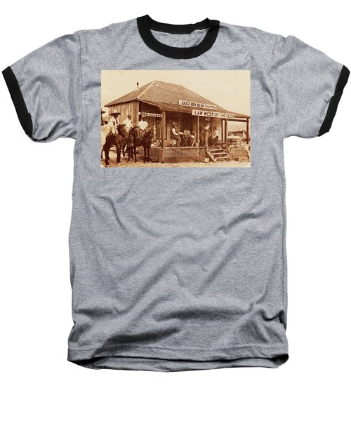 Law West Of The Pecos Baseball T-Shirt by Pg Reproductions