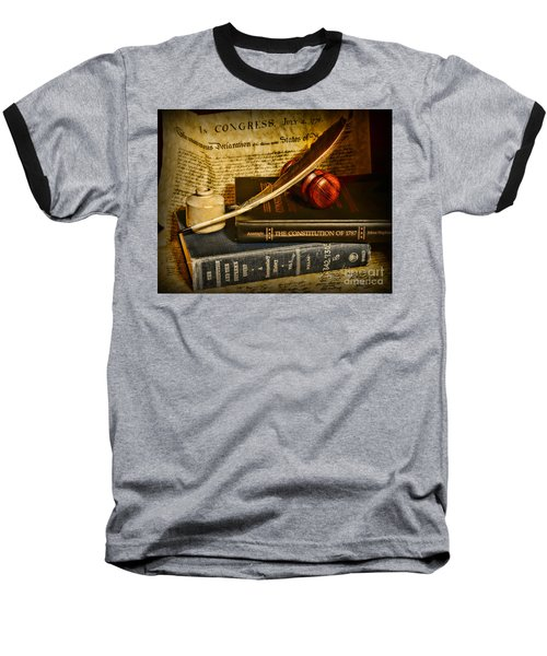 Lawyer - The Constitutional Lawyer Baseball T-Shirt by Paul Ward