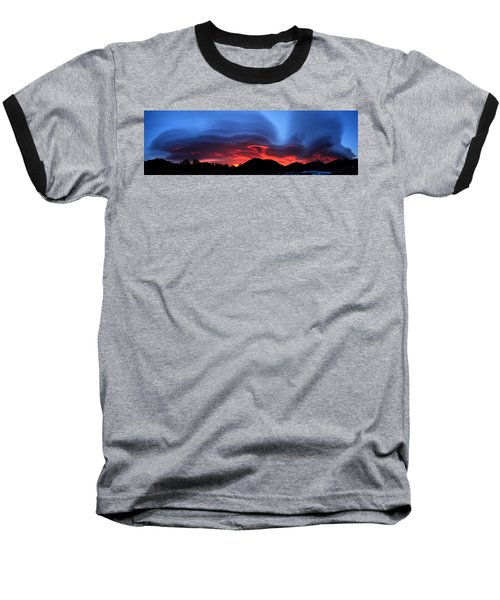 Layers In The Sky - Panorama Baseball T-Shirt
