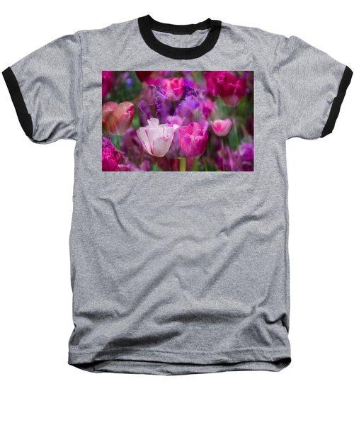 Layers Of Tulips Baseball T-Shirt