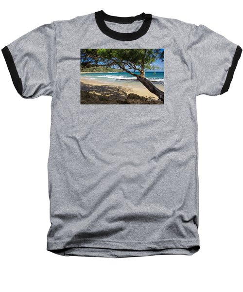 Baseball T-Shirt featuring the photograph Lazy Day At The Beach by Suzanne Luft