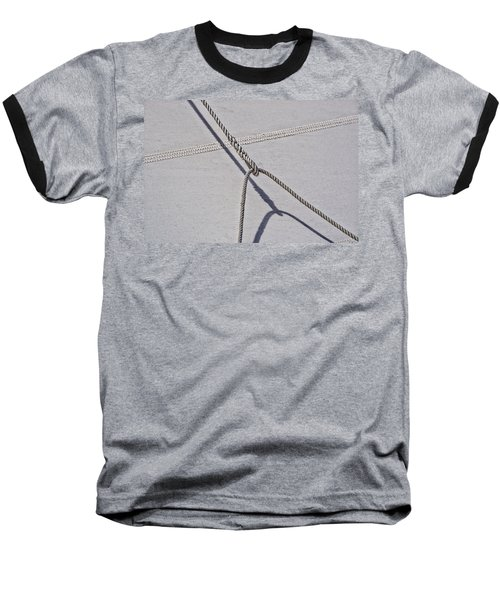 Baseball T-Shirt featuring the photograph Lazy Jack-shadow And Sail by Marty Saccone