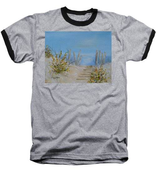 Baseball T-Shirt featuring the painting Lbi Peace by Judith Rhue