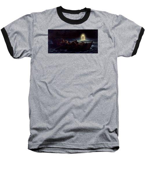 Le Christ Marchant Sur La Mer Baseball T-Shirt