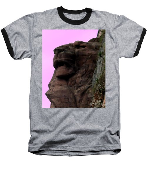 Baseball T-Shirt featuring the photograph le Lion de Bartholdi by Marianne NANA Betts