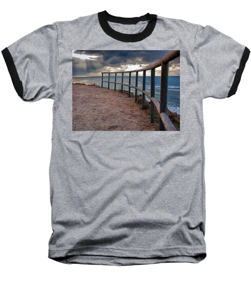 Rail By The Seaside Baseball T-Shirt