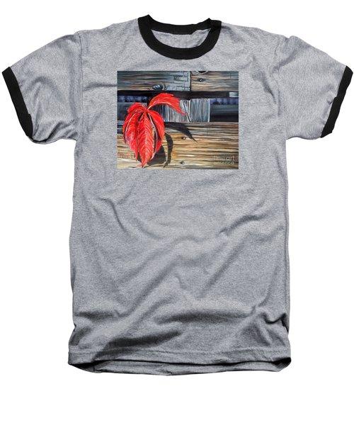 Leaf Shadow 2 Baseball T-Shirt by Marilyn  McNish