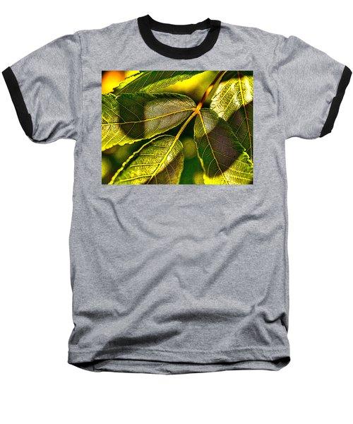 Leaf Texture Baseball T-Shirt