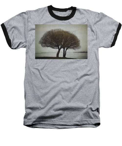 Baseball T-Shirt featuring the photograph Leafless Couple by Ari Salmela