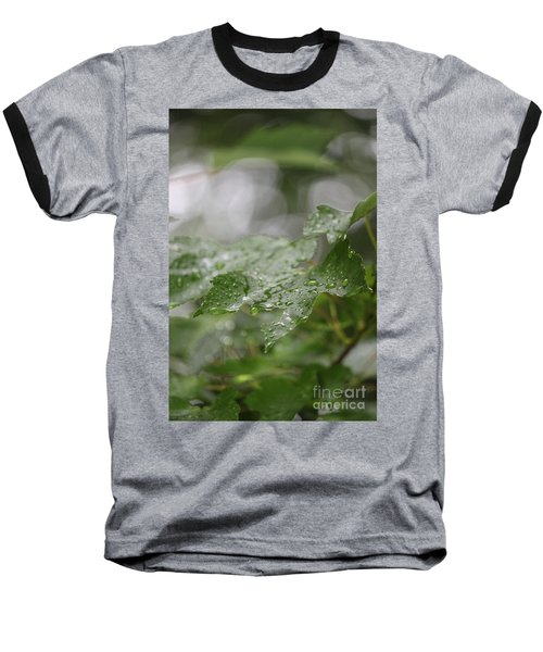 Leafy Raindrops Baseball T-Shirt