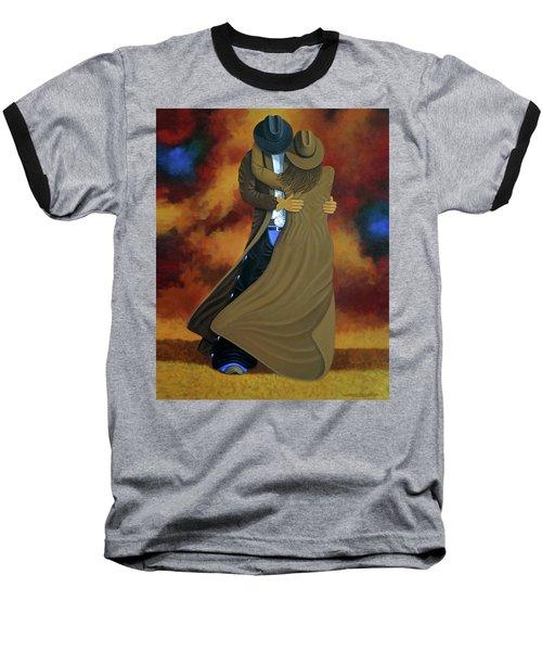 Lean On Me Baseball T-Shirt by Lance Headlee