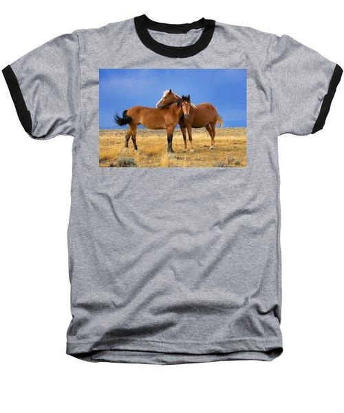 Lean On Me Wild Mustang Baseball T-Shirt