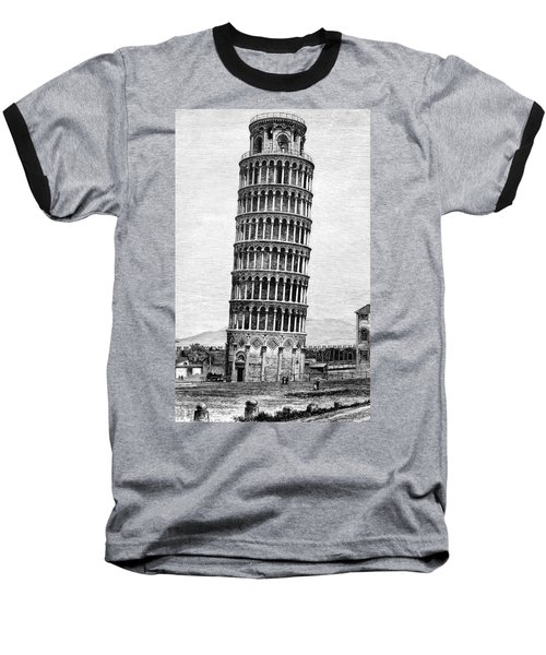 Leaning Tower Of Pisa 1870 Drawing Baseball T-Shirt