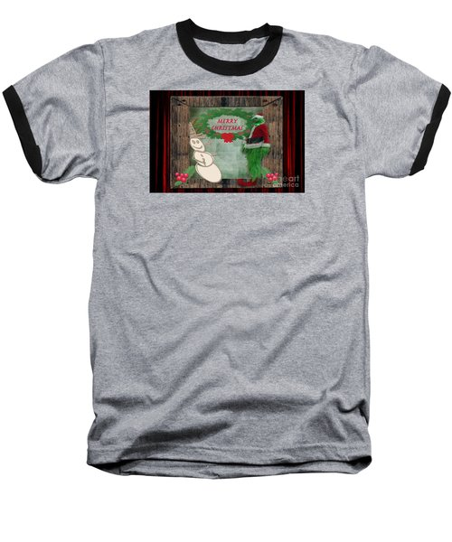 Baseball T-Shirt featuring the photograph Leaning Into Christmas by Donna Brown