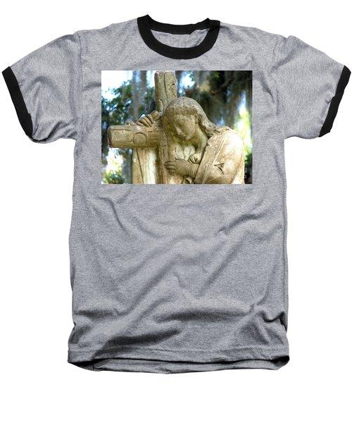 Leaning On The Cross Baseball T-Shirt