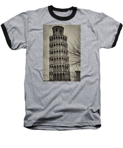 Baseball T-Shirt featuring the photograph Leaning Tower by Miguel Winterpacht