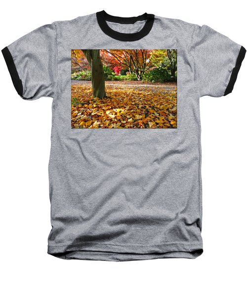 Leaves And More Leaves Baseball T-Shirt