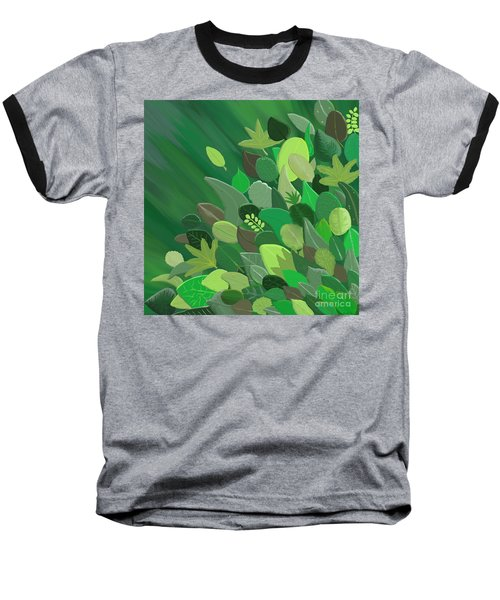 Leaves Are Awesome Baseball T-Shirt by Linda Lees