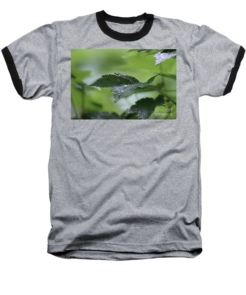 Leaves In The Rain Baseball T-Shirt
