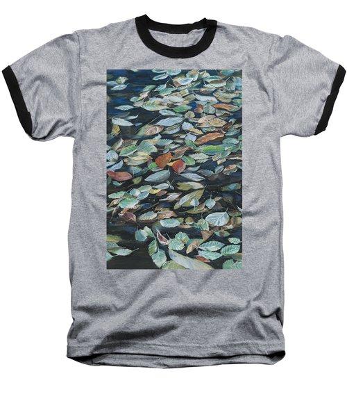 Leaves On Pond Baseball T-Shirt