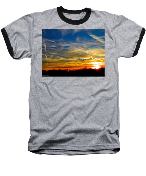 Leavin On A Jetplane Sunset Baseball T-Shirt