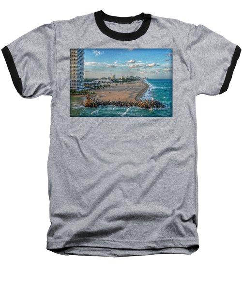 Leaving Port Everglades Baseball T-Shirt by Hanny Heim