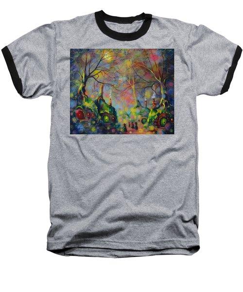 Leaving The Shire Baseball T-Shirt by Joe Gilronan