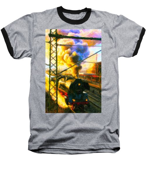 Leaving The Station Baseball T-Shirt
