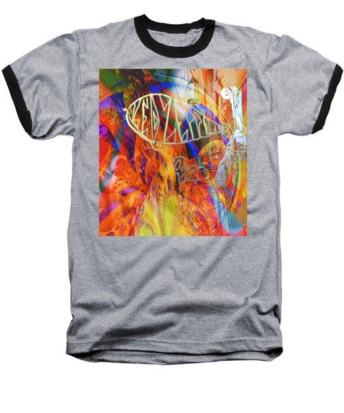 Led Shred Baseball T-Shirt by Kevin Caudill