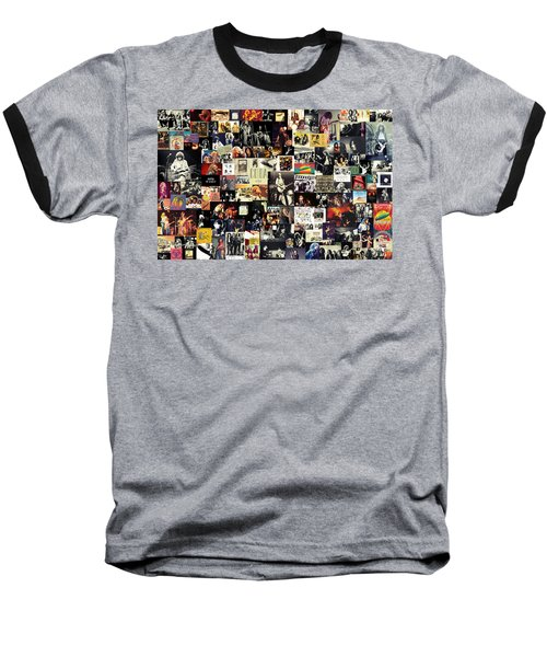 Led Zeppelin Collage Baseball T-Shirt