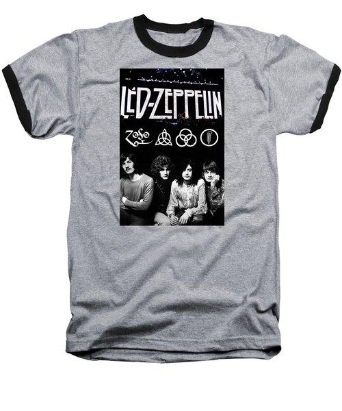 Led Zeppelin Baseball T-Shirt by FHT Designs