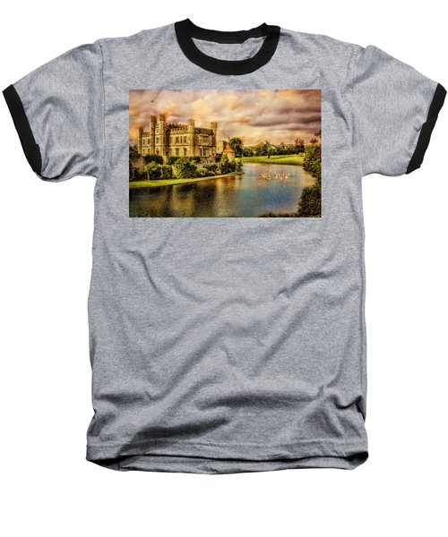 Leeds Castle Landscape Baseball T-Shirt